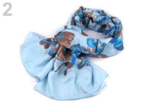 Stoklasa Šátek květy 80x185 cm - 2 modrá pomněnková