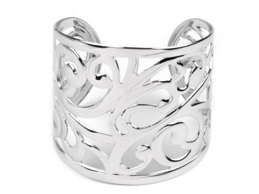 Stoklasa Kovový náramek s orientálním motivem - stříbrná