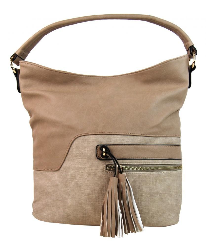 Moderní modro-černá kabelka s visacím zámkem Miss Lulu - Lulu Bags ... c2681747e6