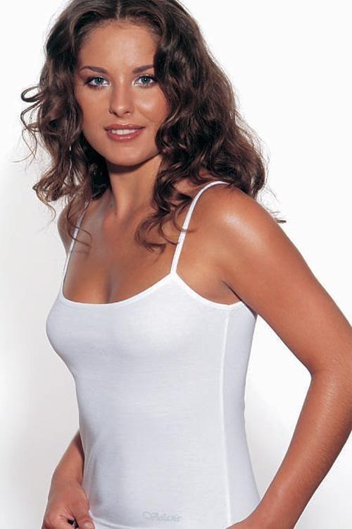 VIOLANA Spodní košilka Sonia ramínka - černá - L