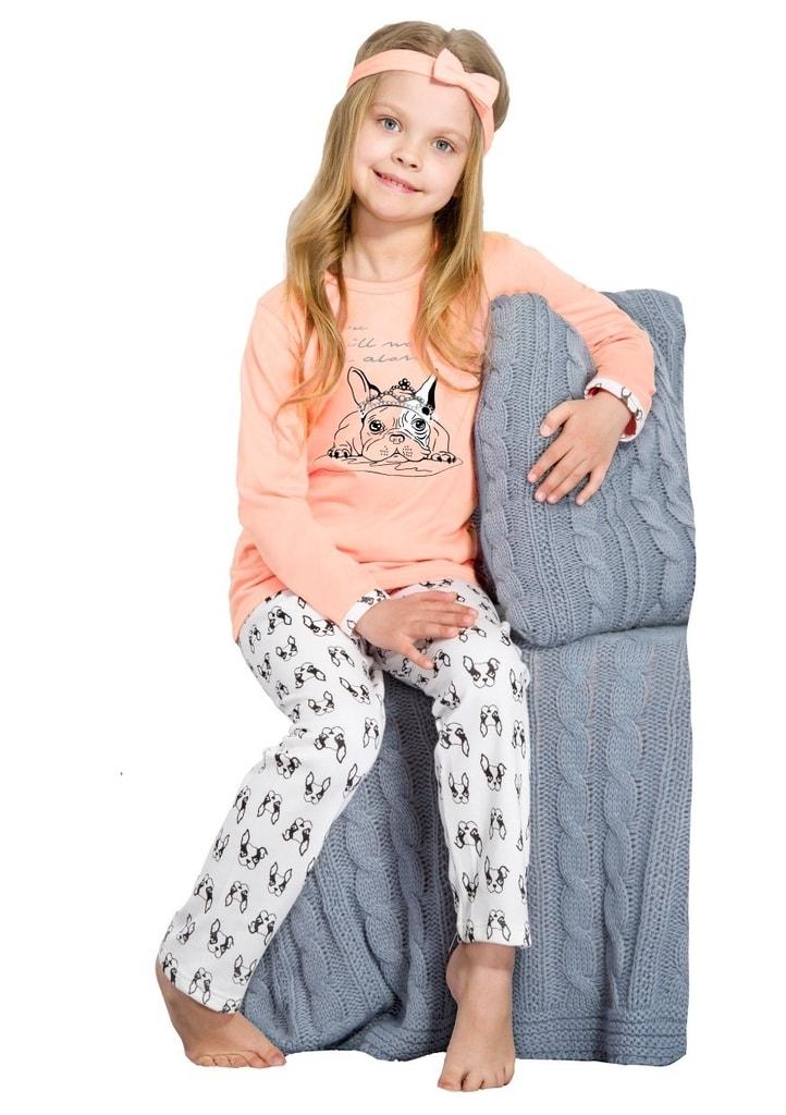 Taro Dětské pyžamo Michasia - meruňka - 122