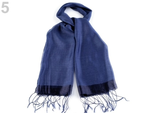 Stoklasa Hedvábný šátek 70x175 cm - 5 modrá delta