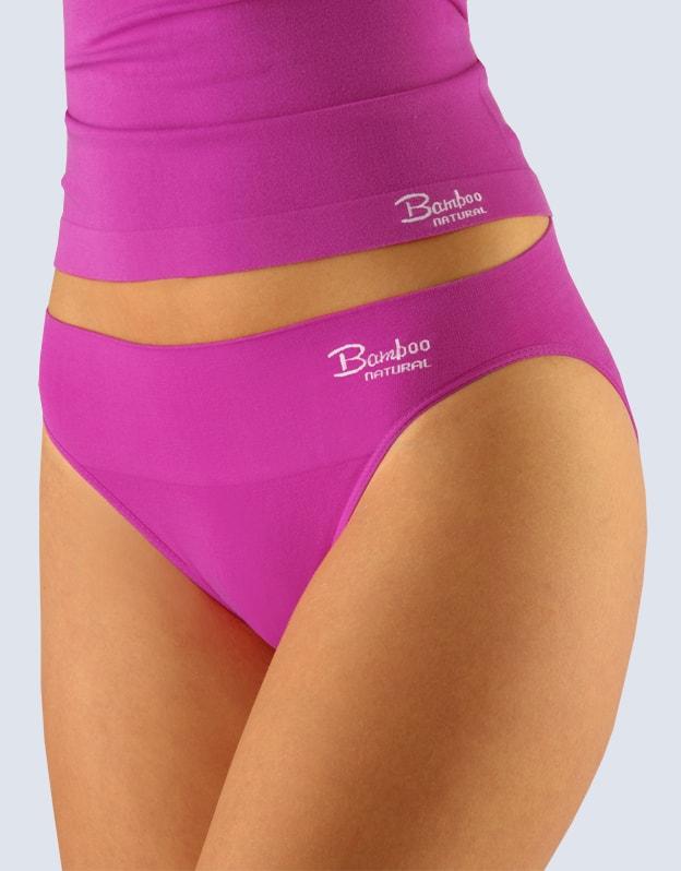 Gina Dámské kalhotky klasické s úzkým bokem, bezešvé, Bamboo Natural 00027P - dunaj bílá - S/M