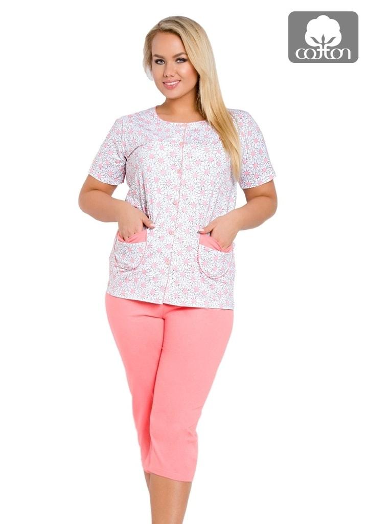 Taro Dámské pyžamo nadměrné velikosti Wera l - růžová - XXL