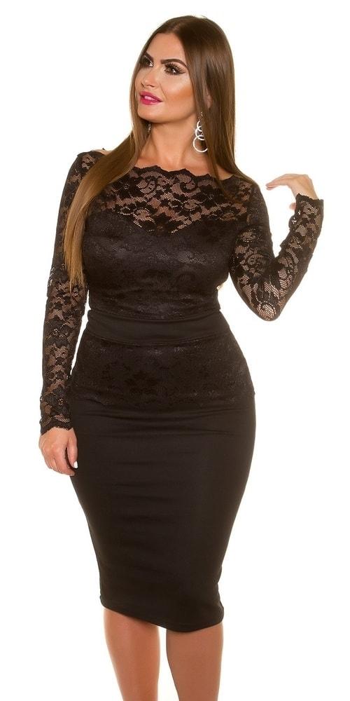 Koucla Krajkové dámské šaty in-sat1336bl - dle obrázku - 42