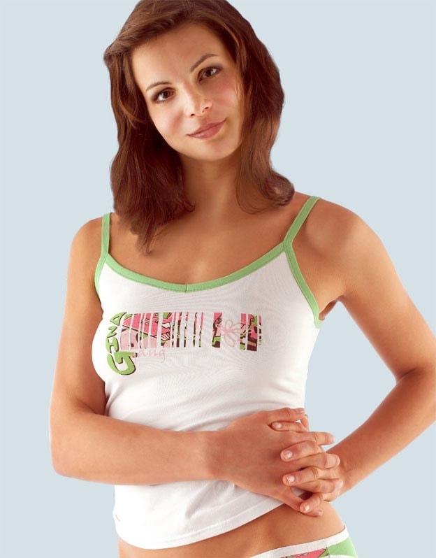 Gina Spodní košilka na úzká ramínka 18031P - cukrová - 46/48