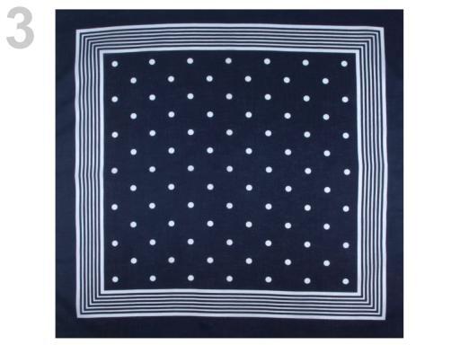 Stoklasa Bavlněný šátek s puntíky Etex 70x70 cm - 3 modrá pařížská