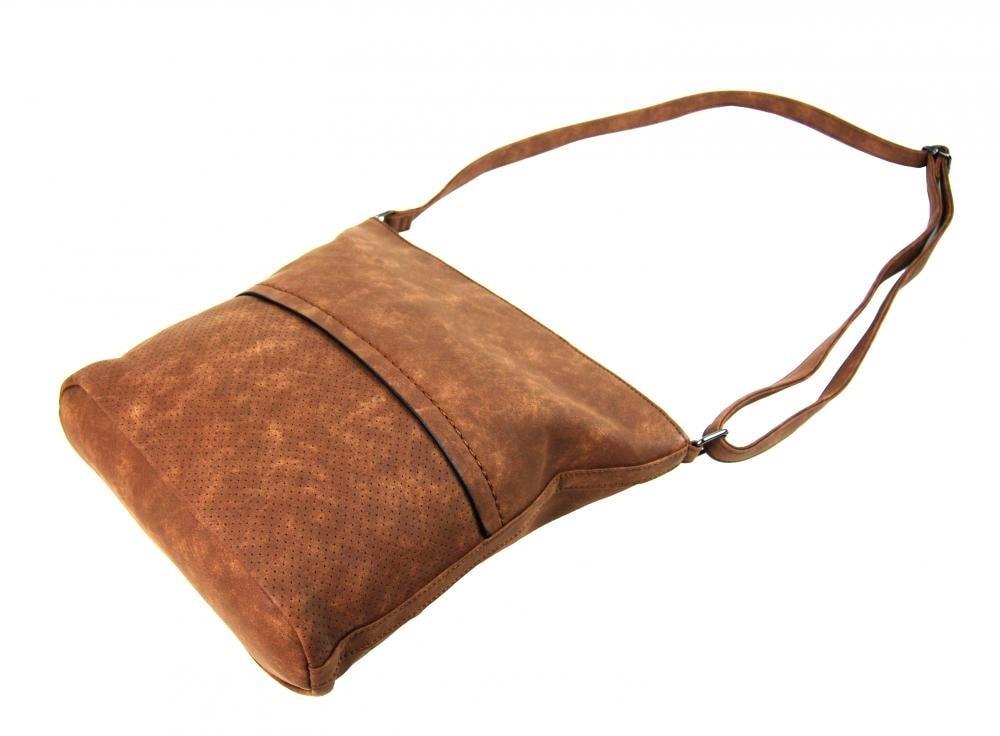 Černo-hnědá dámská crossbody kabelka se šikmými zipy H16183 - Tapple ... 45148ae0378