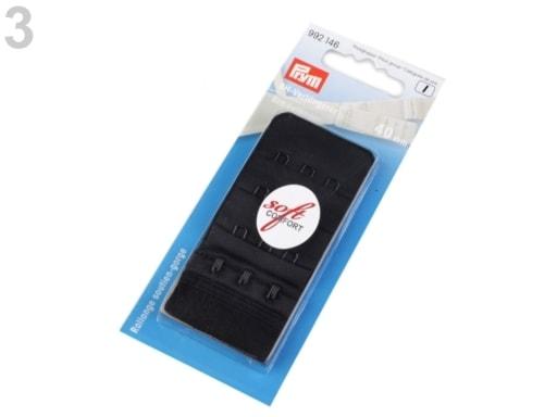 Stoklasa Prodloužení k podprsence Prym šíře 40 mm 3 řady 3 očka - 3 černá