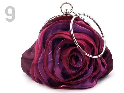 Stoklasa Slavnostní kabelka ROSE satén - 9 fialová gerbera