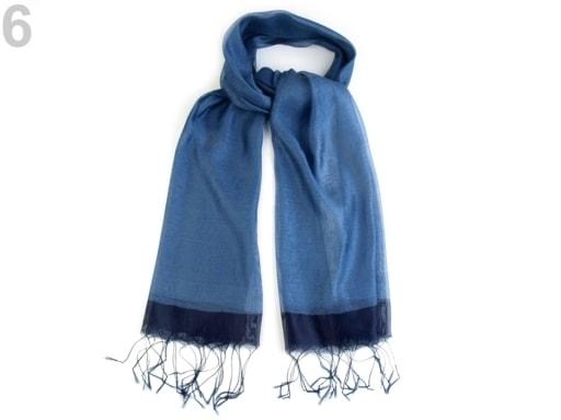 Stoklasa Hedvábný šátek 70x175 cm - 6 modrá jeans