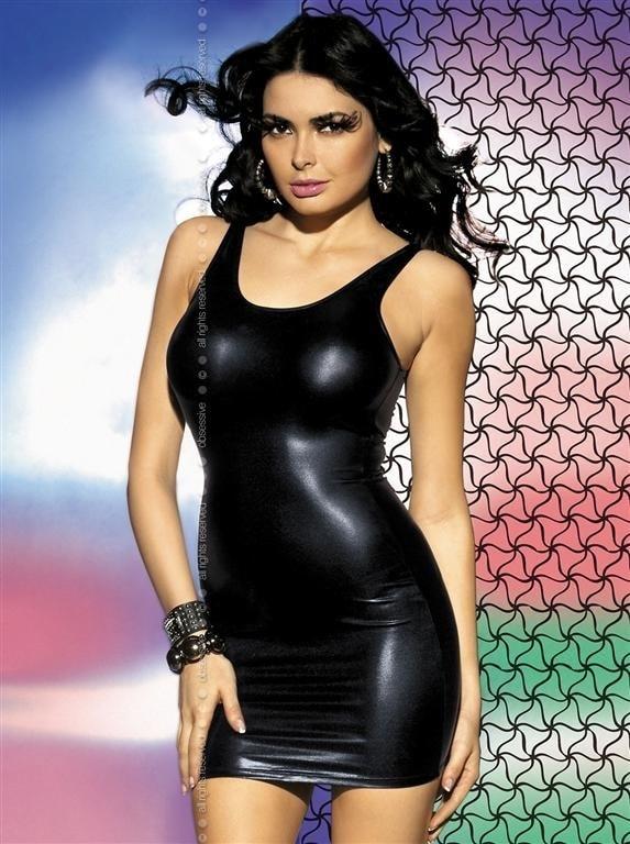 Obsessive Sexy kostým Obsydian dress - černá - L/XL