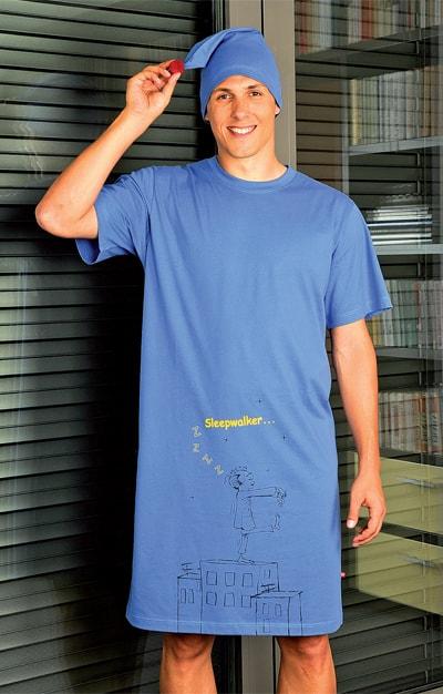 Andrie Noční košile s čepičkou PS 9192 - oranžová - M