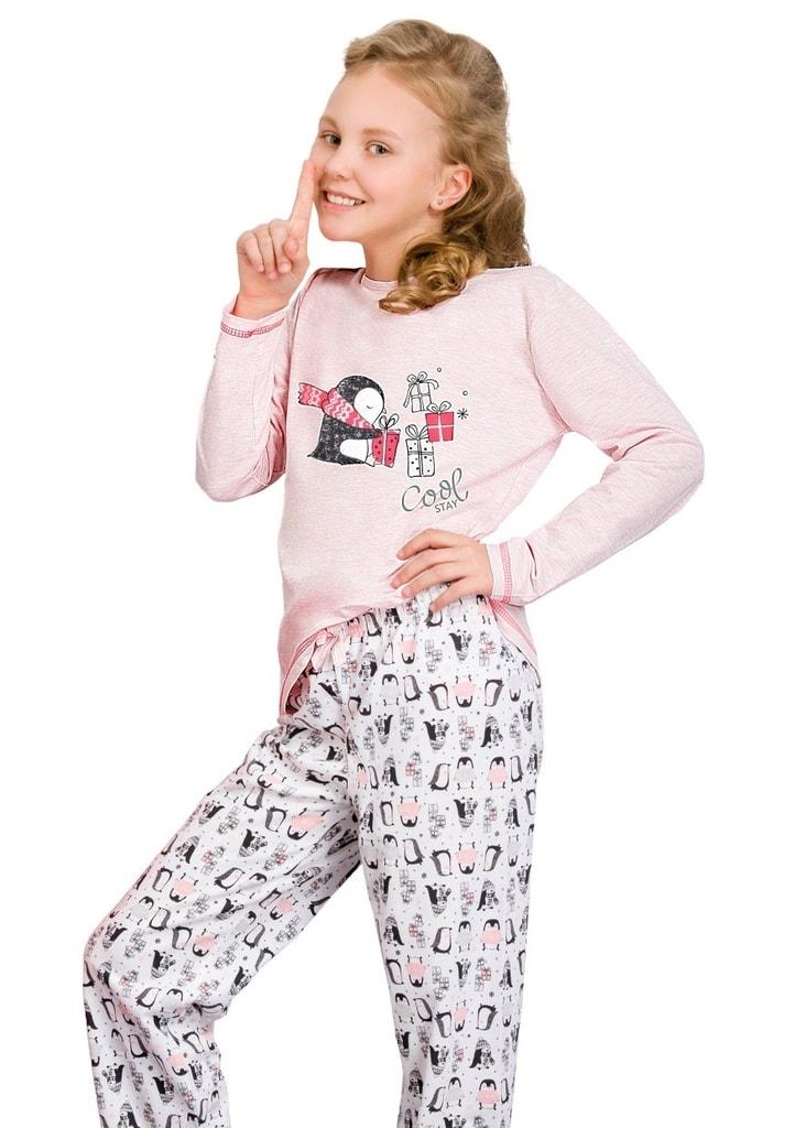 Taro Dívčí pyžamo Oda - růžová světlá - 146