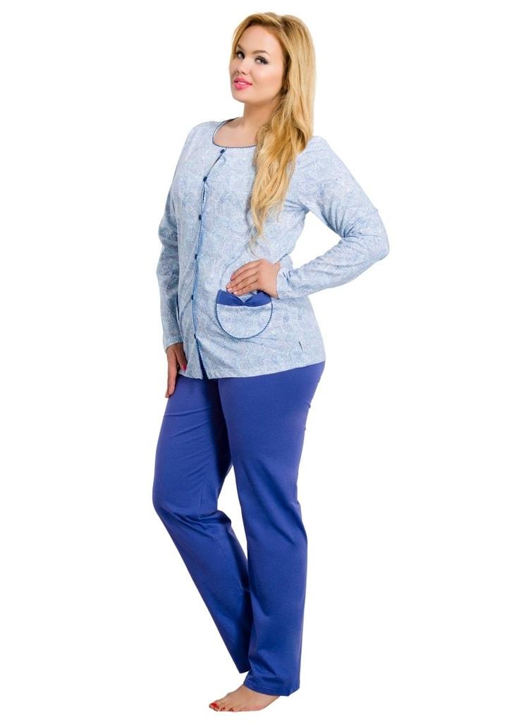 Taro Dámské pyžamo nadměrné velikosti Wera - modrá - XXL