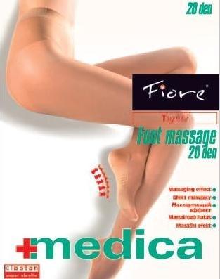Fiore Zdravotní punčochy FOOT MASSAGE 20 den - černá - vel.3