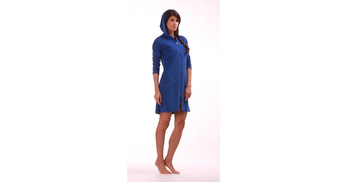 Dámský krátký župan Bari 38 64 modrá - Vestis - BEXIS.cz 524a9847b70