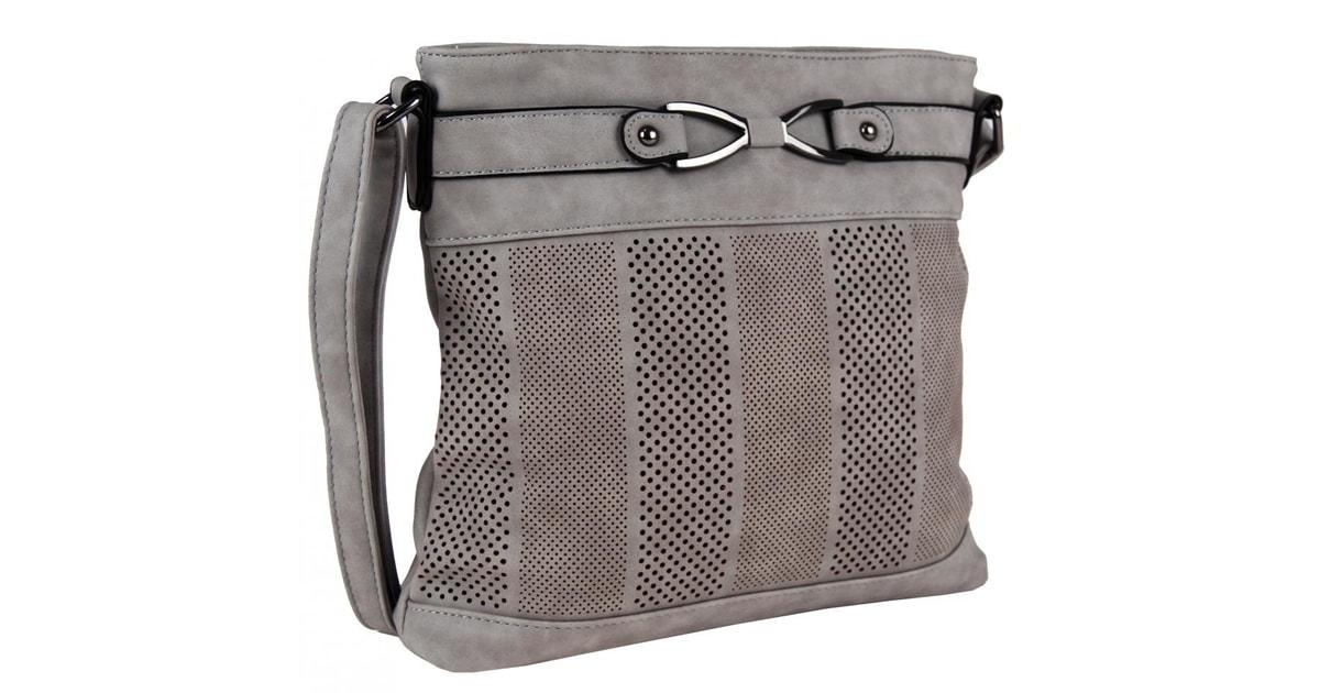 Dámská crossbody kabelka z broušené kůže 5198 světle šedá - Tapple -  Bexis.sk 5704b12a027