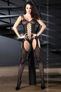 Sexy bodystocking Turquoise black