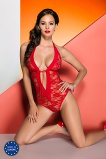 Erotické body Rayen teddy red