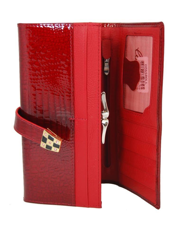 4bc43fd1b7aec Dámská kroko kožená peněženka v krabičce Cossroll A16-5242 červená Zvětšit.  Previous  Next