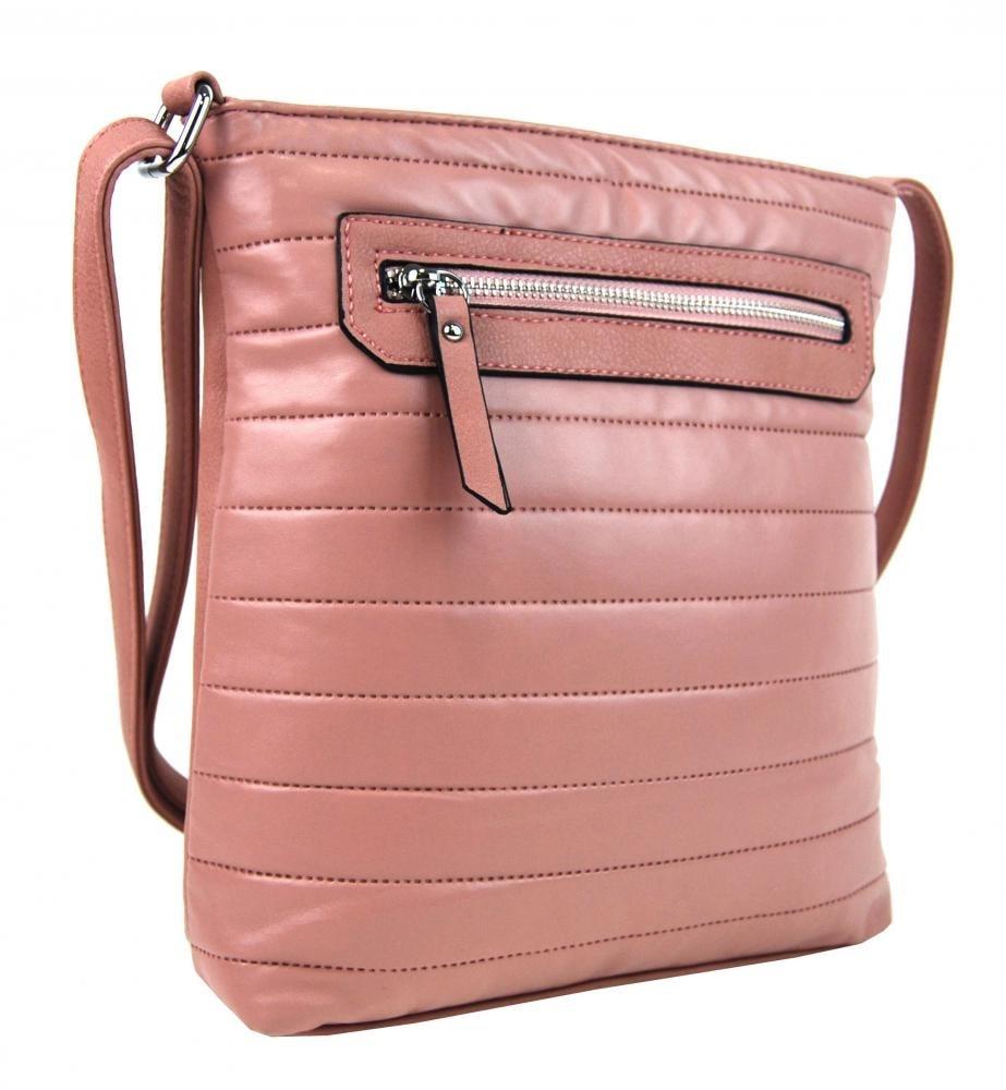 Elegantní prošívaná crossbody kabelka YH1602 růžová Zvětšit. Previous  Next 9e21b0d7cc9