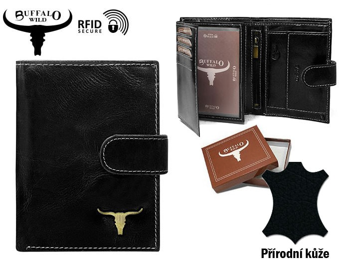Černá pánská kožená peněženka RFID v krabičce WILD Zvětšit. Previous  Next.  Previous  Next 0ede1741b3