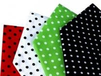 Bavlněný šátek 65x65 cm s puntíky