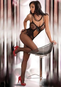 Bodystocking Magali black XXL