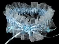 Svatební podvazek dvojitý šíře v rozmezí od 70-80 mm