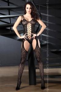 Sexy bodystocking Turquoise black