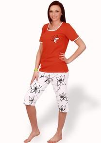 Dámské pyžamo s capri kalhotami Magda