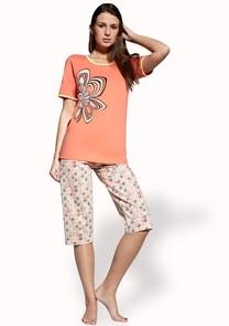 Dámské pyžamo s capri kalhotami Ania