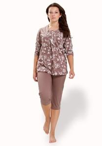 Dámské pyžamo s capri kalhotami Tosia