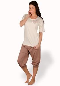 Dámské pyžamo s capri kalhotami Adela