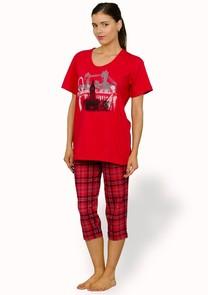 Dámské pyžamo s capri kalhotami Kaja