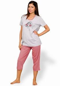 Dámské pyžamo s capri kalhotami Dana