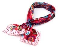 Saténový šátek 55x55 cm s potiskem