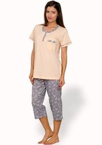 Dámské pyžamo s capri kalhotami Elvira