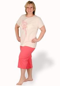 Dámské capri pyžamo nadměrné velikosti Sylwia