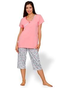 Dámské pyžamo Wiktoria s capri kalhotami