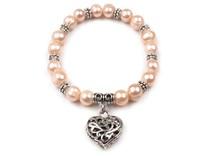 Pružný náramek z perel