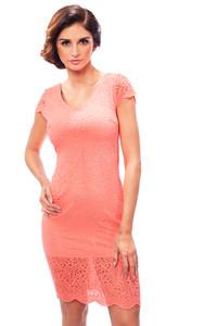 Letní krajkové šaty lososové 190041