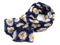 Šátek kopretiny 100x180 cm
