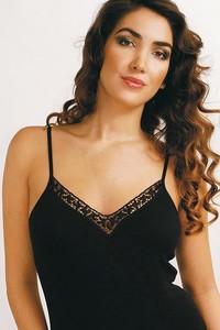 Spodní košilka Violana Olga black - ramínka