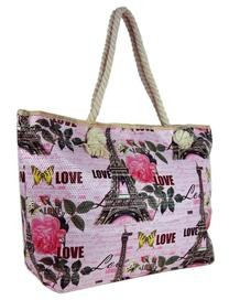 Růžová lehká plážová taška na rameno H5