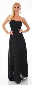 Černé dlouhé šaty st-sa207bl