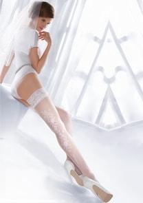Punčochy samodržící svatební Princessa 06/190 Gabriella