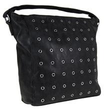 Černá broušená kabelka na rameno M9001