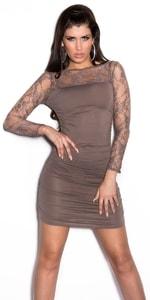 Dámské mini šaty s krajkovými rukávy in-sat1059ca